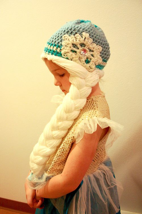 Otra bonita imagen de una de las pelucas de The Magic Yarn Project